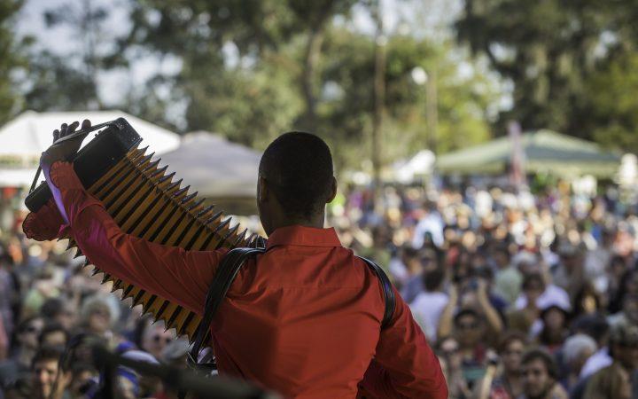 Festivals Acadiens et Créoles - Cedric Watson performs during Festival Acadiens et Creoles in Lafayette, La.