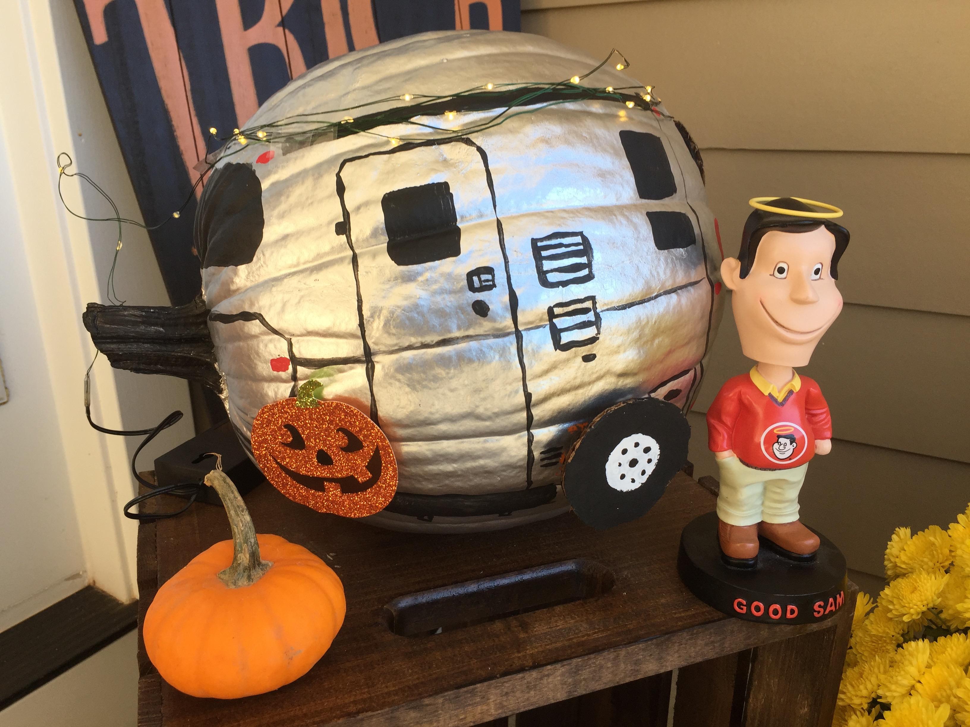 RV Painted Pumpkin