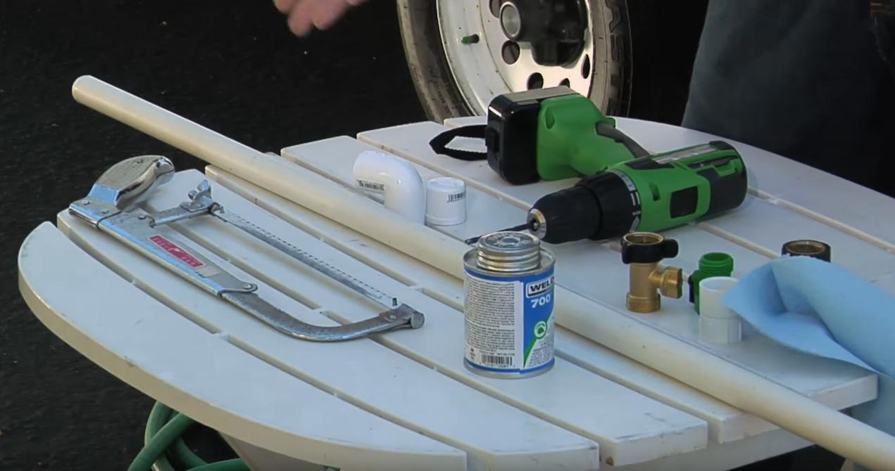 Bob Livingstone - building a RV Holding Tank Flush Wand