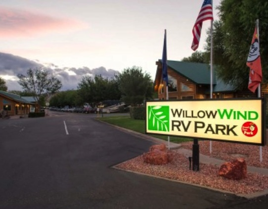 WillowWind RV Park - entrance