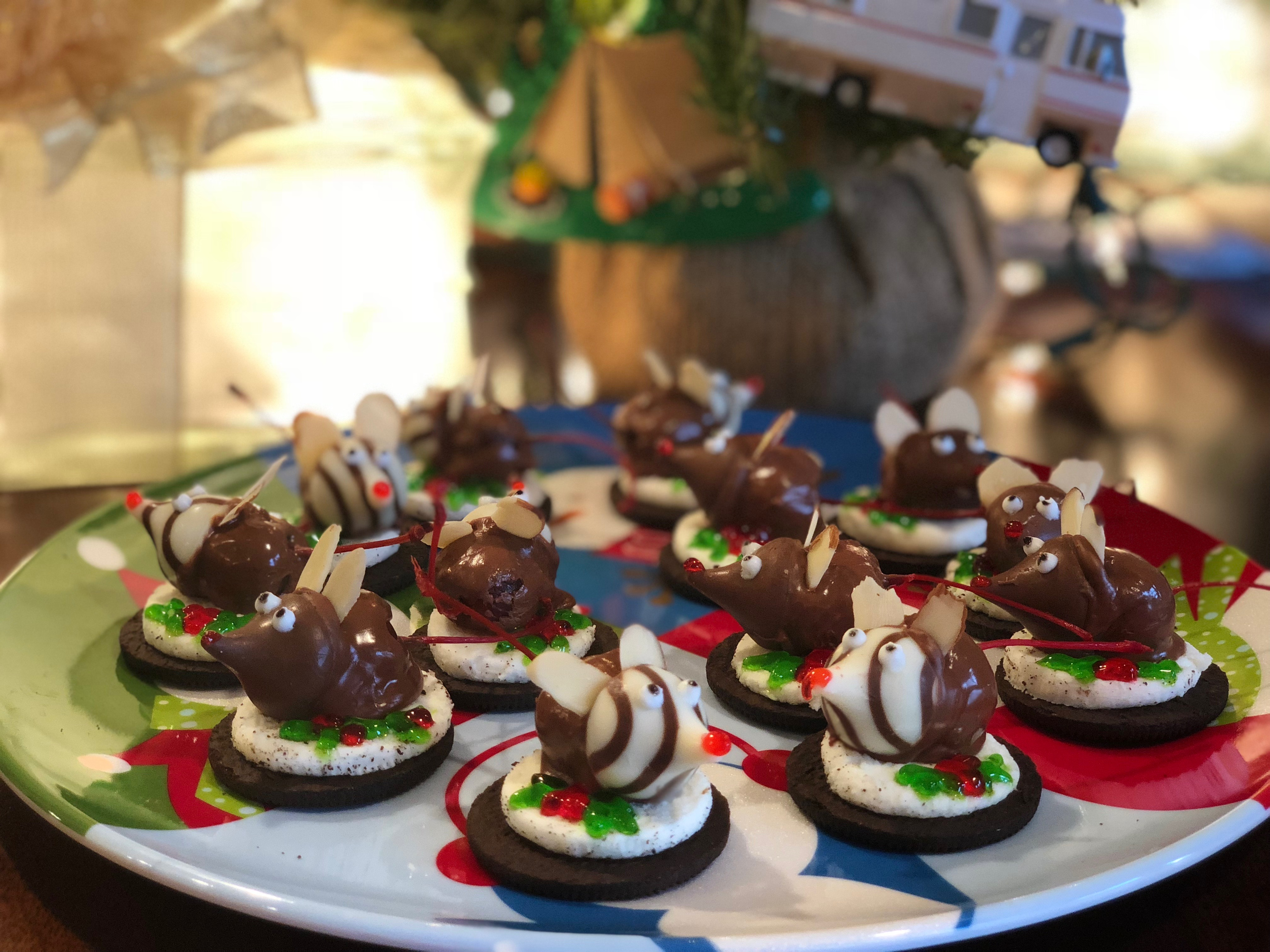 Chocolate Christmas Mice