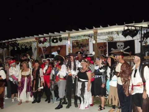 People dressed up as pirates at Sunseeker's RV Resort in Fort Myers