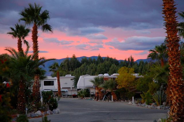 Catalina Spa RV Resort  - sunset