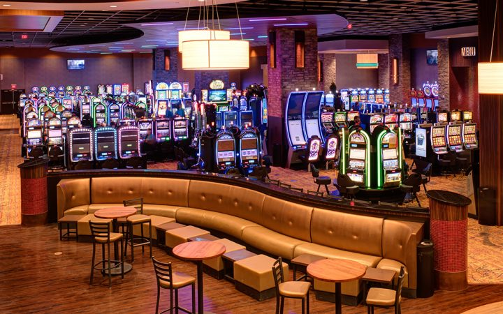 Cherokee Casino Grove - lounge and slot machines