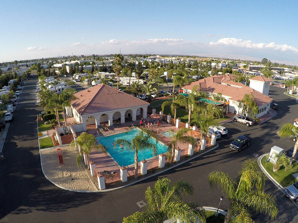 Bakersfield RV Resort in Bakersfield, CA - aerial view