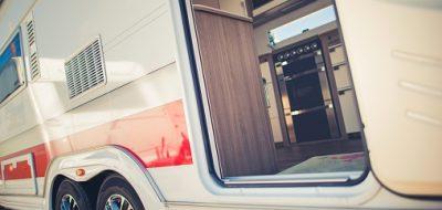 Motorhome door open