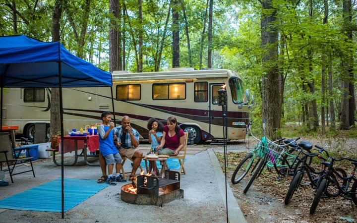 Georgia State Parks - RV campsite with family.