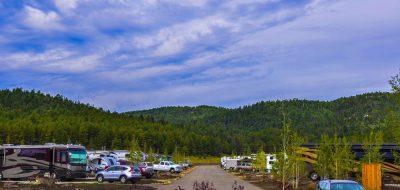 Angel Fire RV Resort - view of RV sites