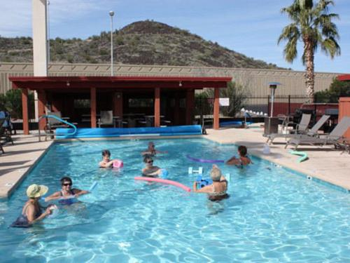 By the Pool at Phoenix Metro RV Park