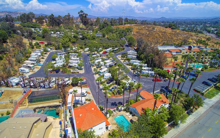Escondido RV Resort - aerial view