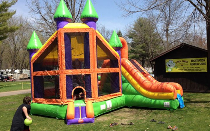O'Neil Creek Campground - kids and inflatable activity