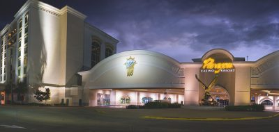 Paragon Casino Resort in Marksville, Louisiana at dusk