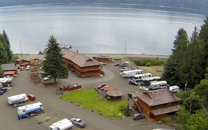 Glen Ayr Resort - aerial view of RV sites