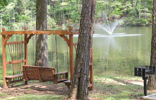 Midway Campground & RV Resort in Statesville, NC - swing by the water