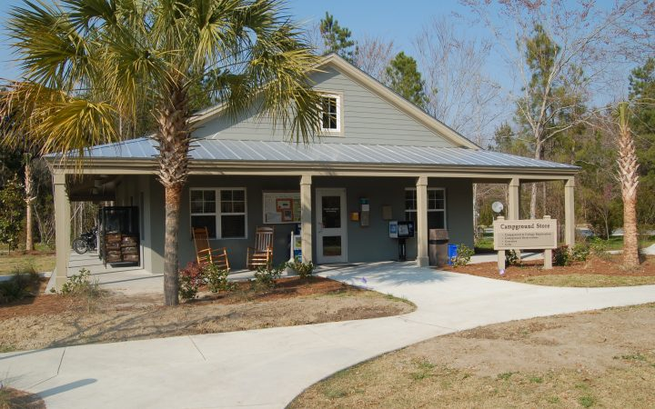Campground at James Island County Park - office