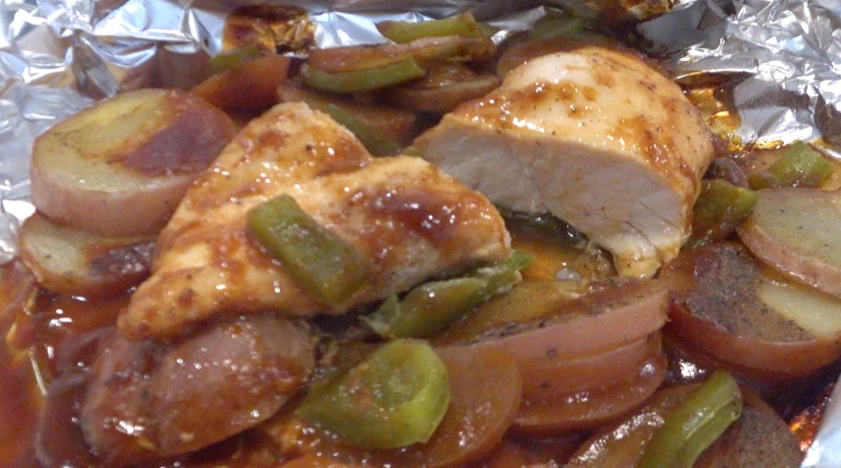 Tin Foil BBQ Chicken