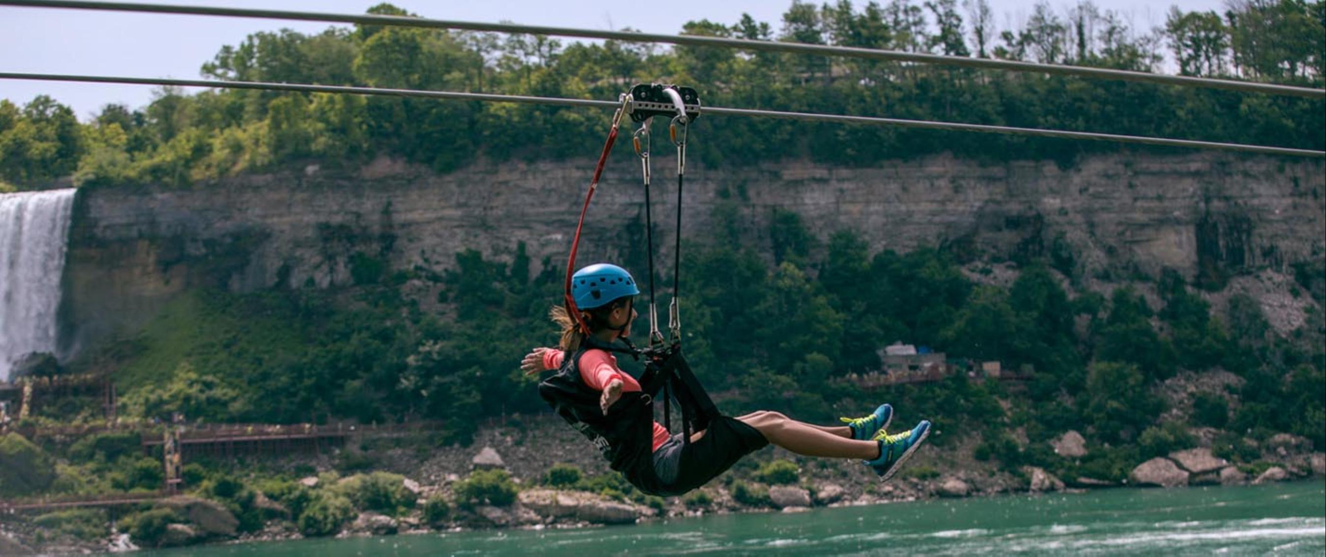 Yogi Bear's Jellystone Camp in Niagara Falls - ziplining