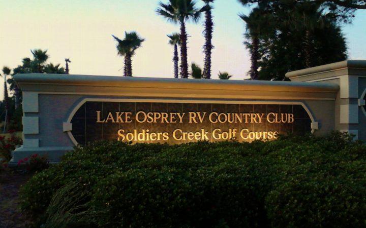 Lake Osprey RV Resort - sign