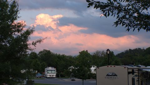 Pine Mountain RV Park - sunset