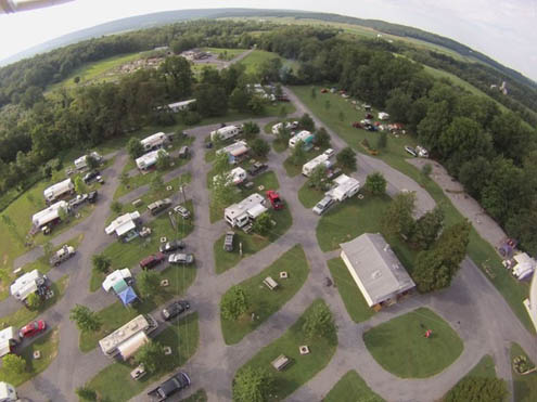 Paradise Stream Family Campground - aerial view