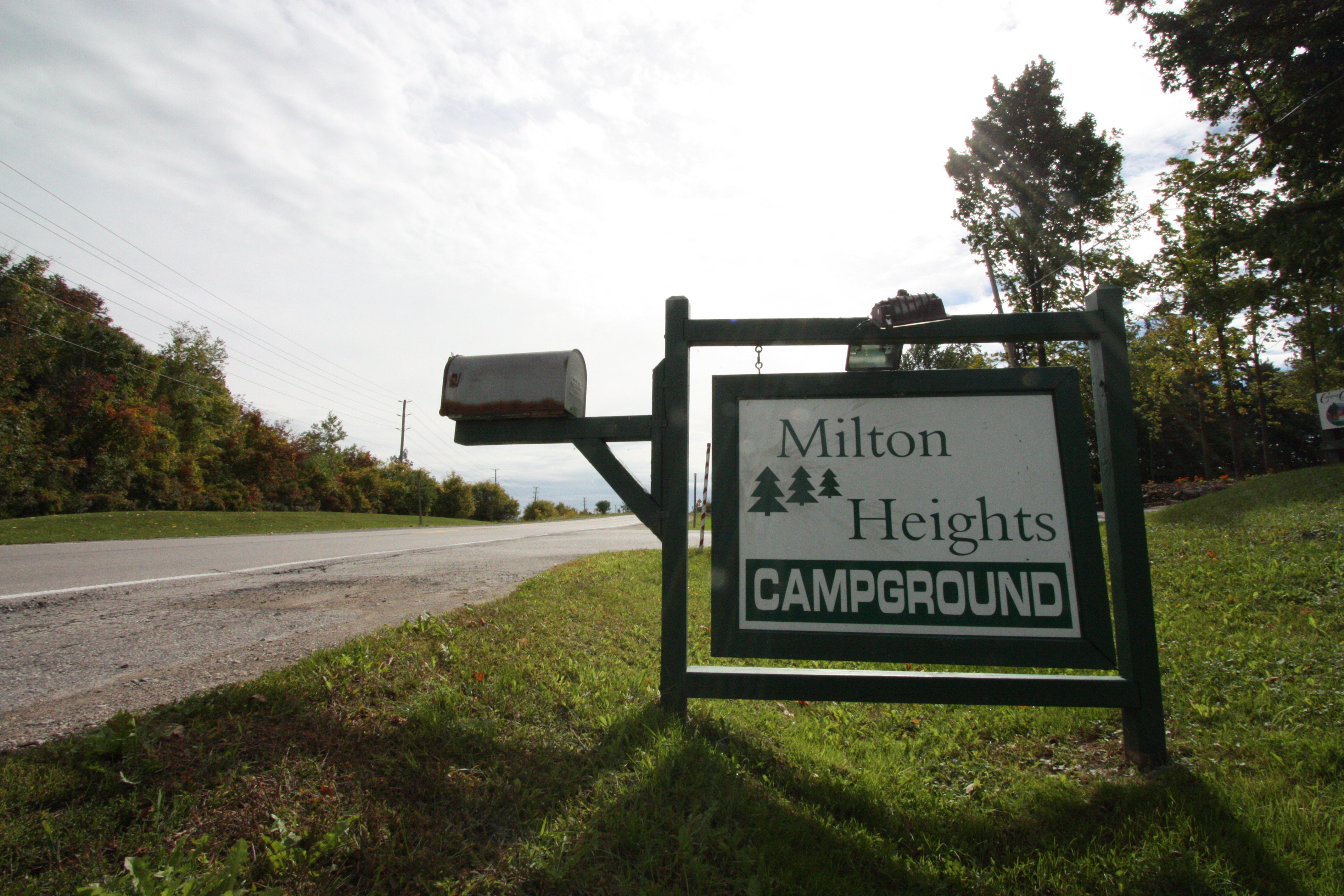 Milton Heights Campground - sign