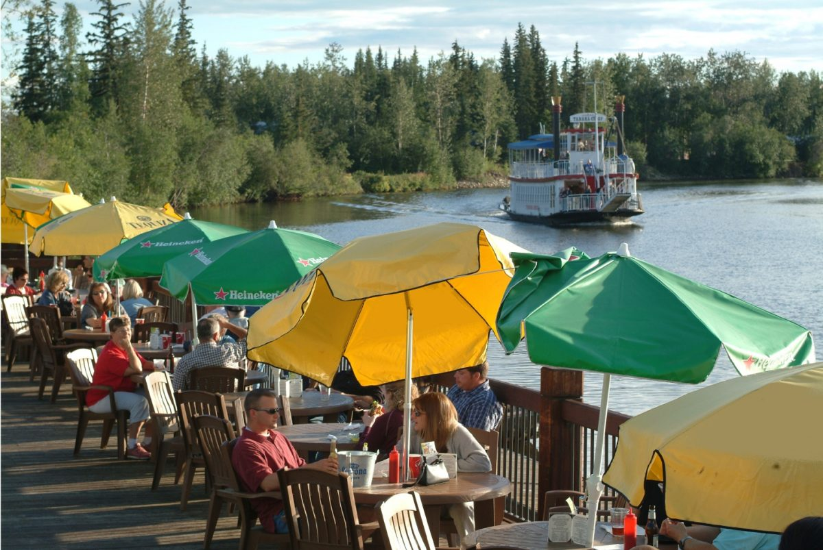 Fairbanks, Alaska - waterfront cafe