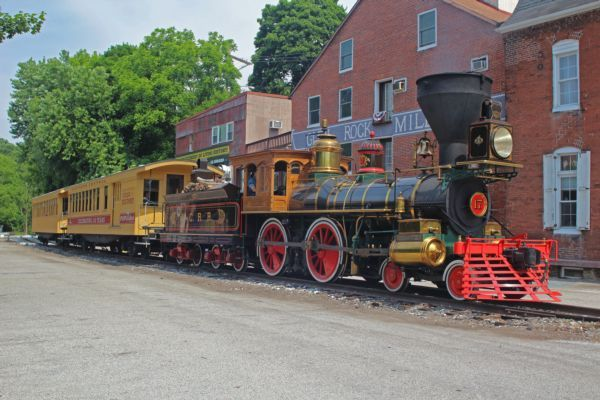 Merry Meadows Recreation Farm - Civil War steam locomotive