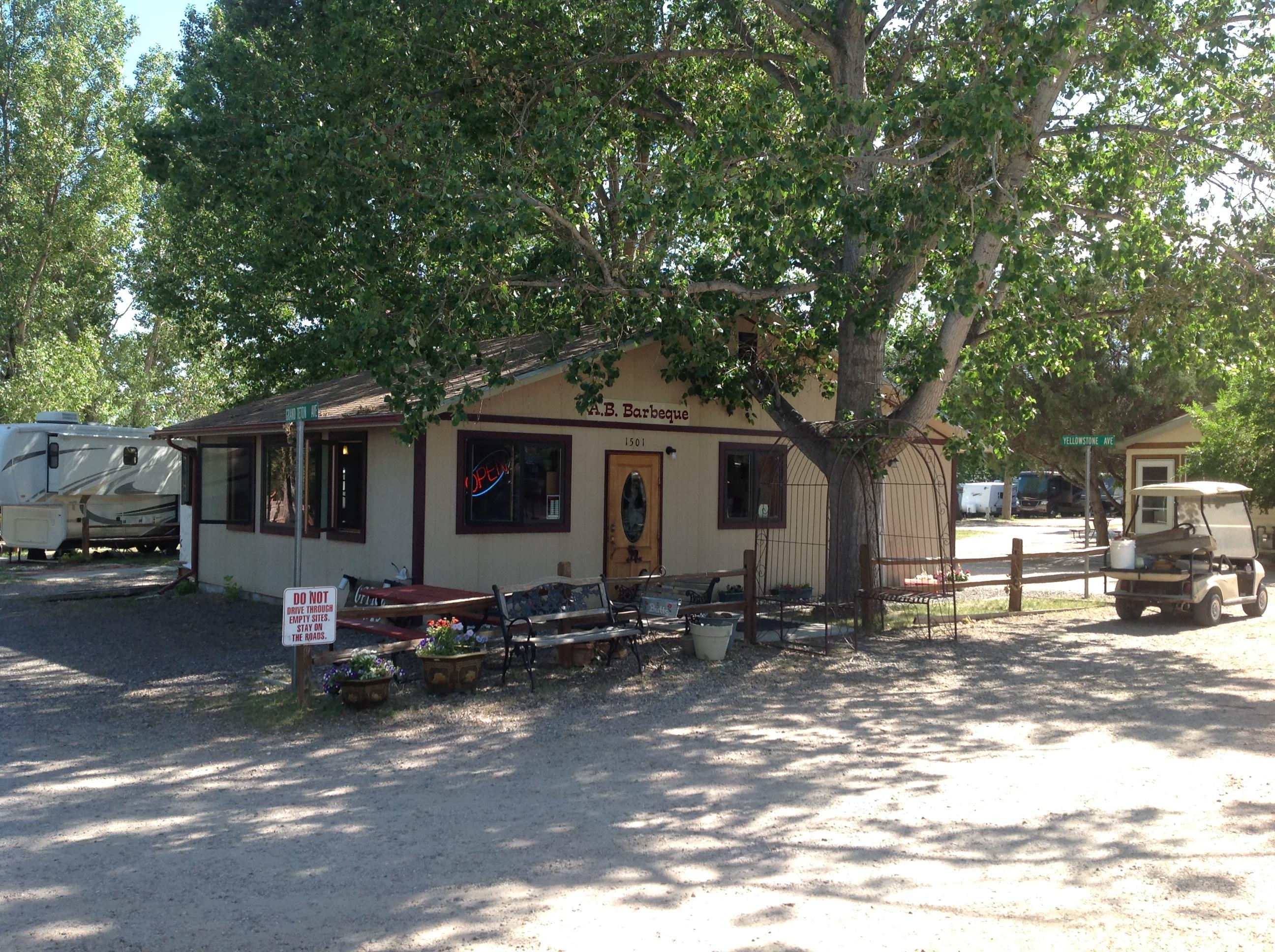 A. B. Camping RV Park, Cheyenne - office