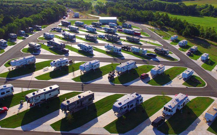 Wanderlust RV Crossings RV Park - aerial view