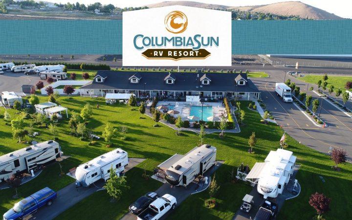 Columbia Sun RV Resort - Aerial view
