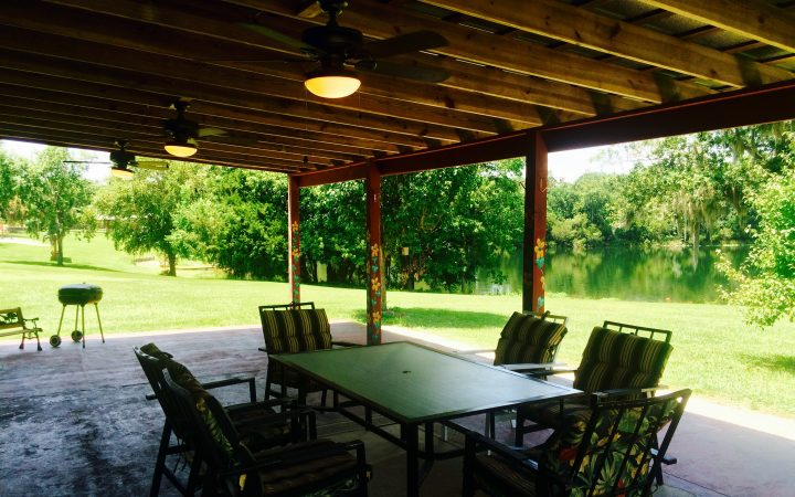 Red Gate RV Park and Campground - deck with bbq