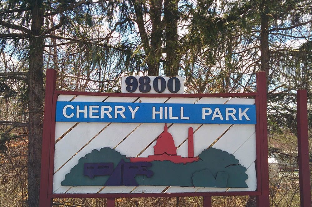 Cherry Hill Park - park sign