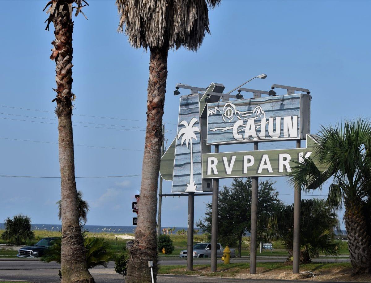 Cajun RV Park- park sign