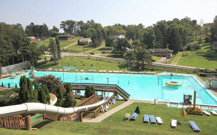 Pine Cove Beach Club & RV Resort - aerial of pool