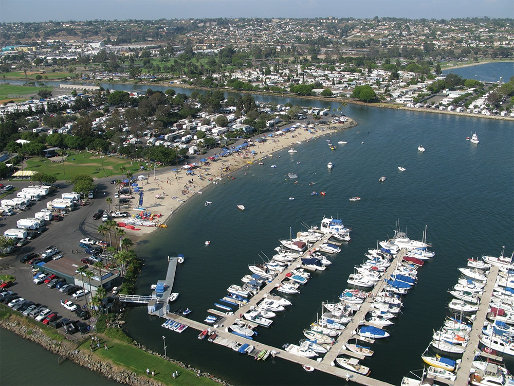Campland on the Bay - aerial view of park