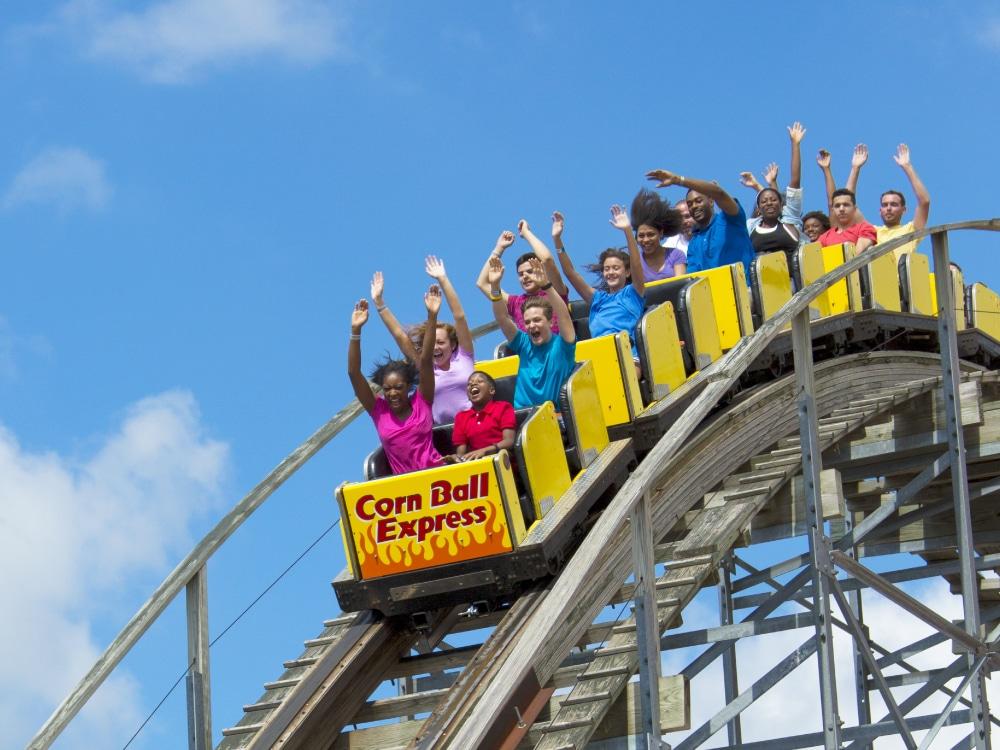 Indiana Beach - Corn Ball Express roller coaster