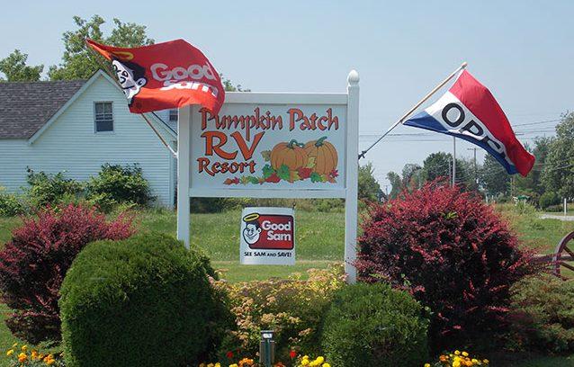 Pumpkin Patch RV Resort - park sign