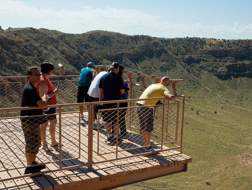 Meteor Crater RV Park - observation deck