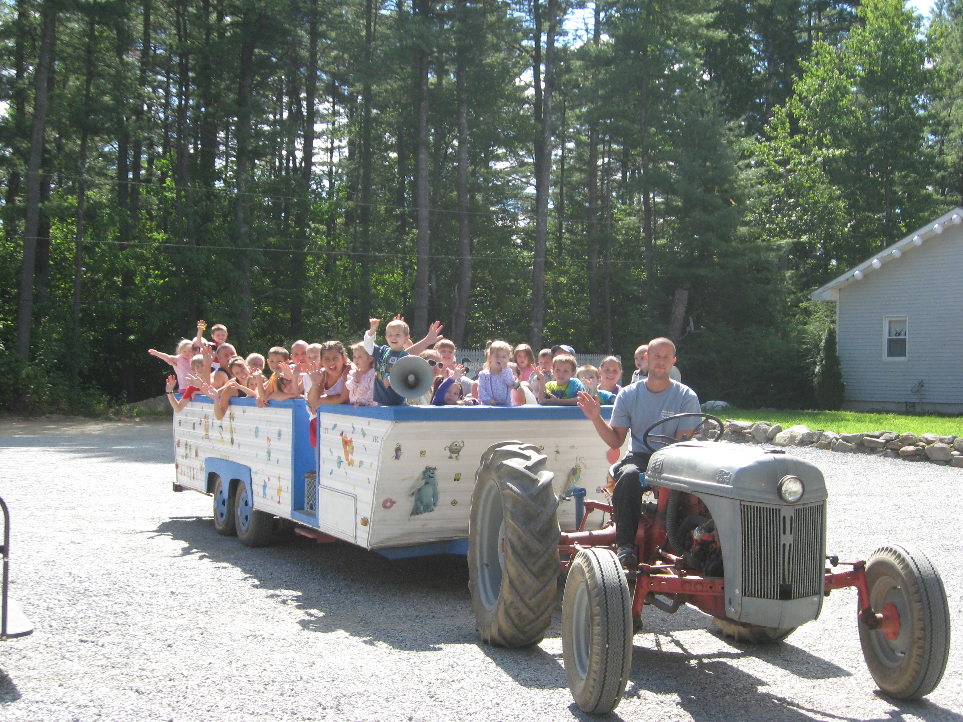 Friendly Beaver Campground - wagon ride