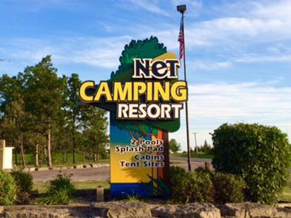 N.E.T Camping Resort - entrance sign