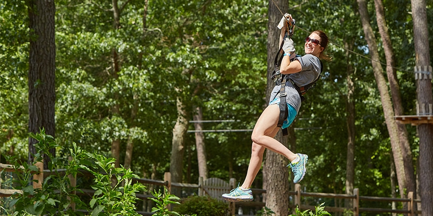 Zip Line Through The Canopy Good Sam Camping Blog