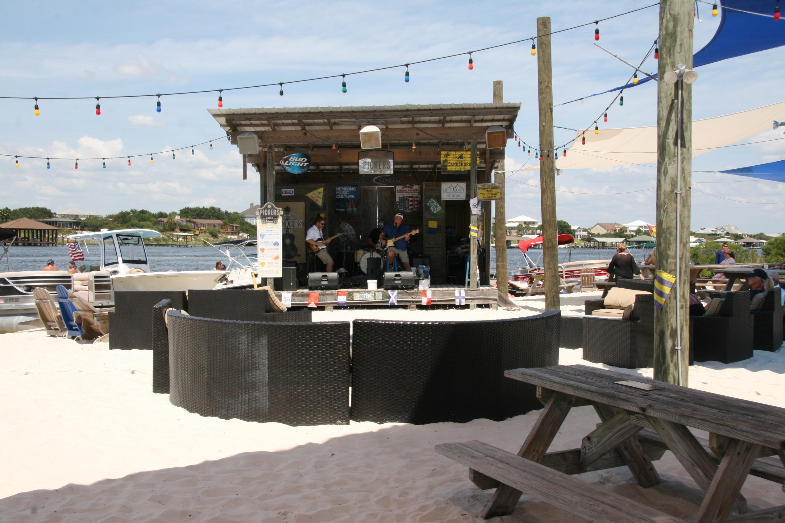 Ahoy RV Resort - music on the beach