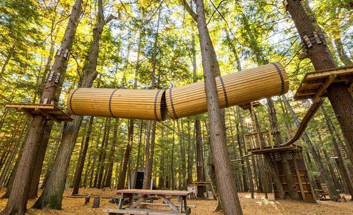 Sun RV Resorts - zip lining at Big Timber Lake RV & Camping Resort
