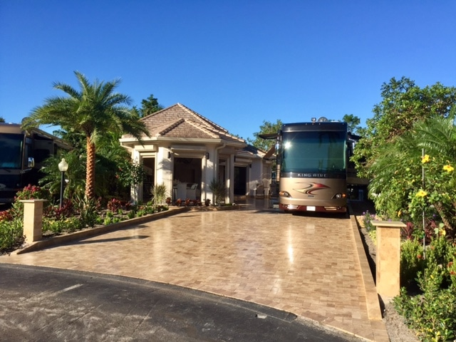 Aztec RV Resort - rv on lot