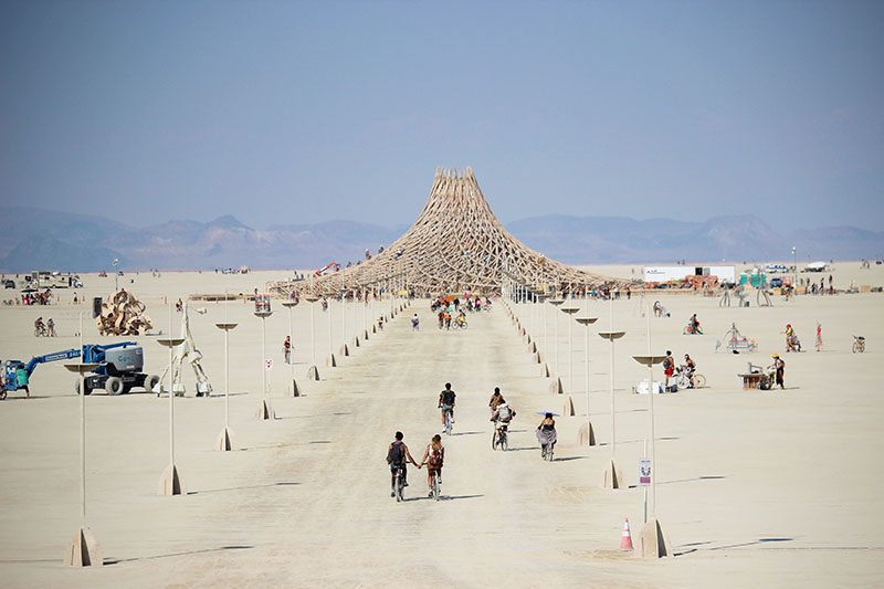 burning man rv trip