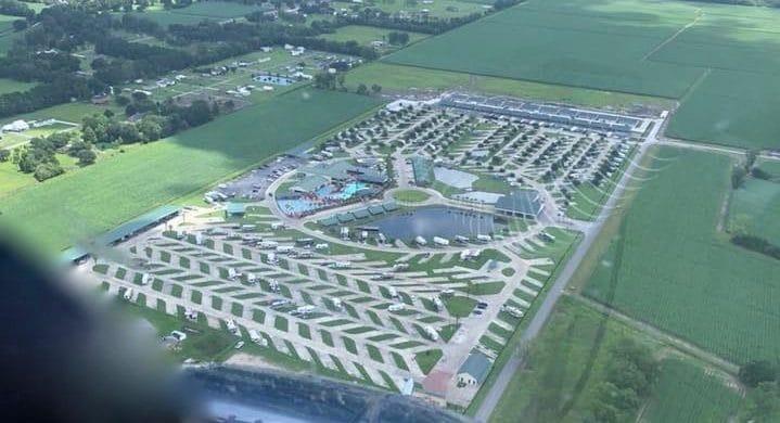 Cajun Palms RV Resort - aerial view