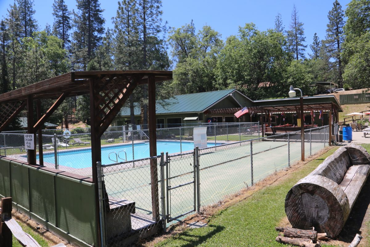 Bass Lake at Yosemite - swimming pool