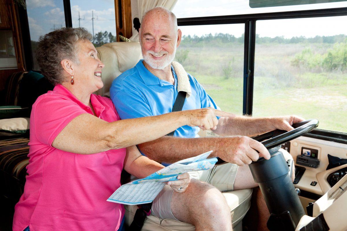 Big Cypress RV Resort & Campground - elderly couple in rv