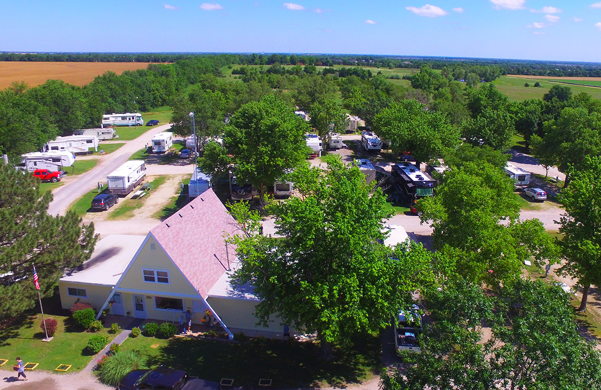 All Seasons RV Park - aerial view