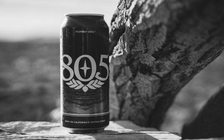Firestone 805 beer 16 oz can outside